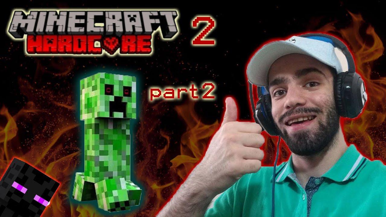 ماینکرفت هاردکور اسپانر و غارهای سطحی رو به رویی مجدد با اندرمن قسمت 2 minecraft