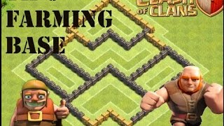 TH5 farming base Anti giants + defense replay