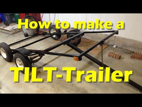 Making a DIY TILT-Trailer (Part 4) - YouTube