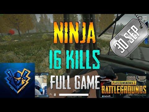 PUBG   Ninja - 16 Kills   Sep 30
