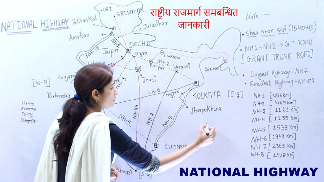 GK Geography INDIA National Highway For PSC , UPSC, SSC CGL And All Exams