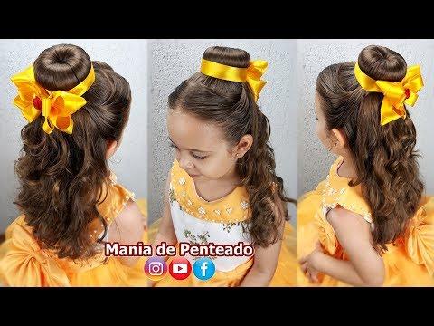 🌹Penteado Infantil Princesa Bela | Belle's Hairstyle Tutorial🌹 thumbnail
