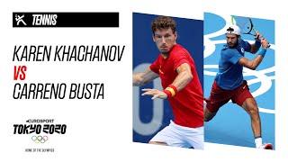 KAREN KHACHANOV vs CARRENO BUSTA | Tennis - Highlights
