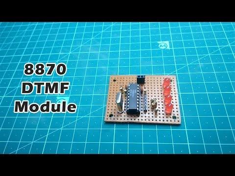 DTMF Decoder using 8870 IC   Staysay - YouTube