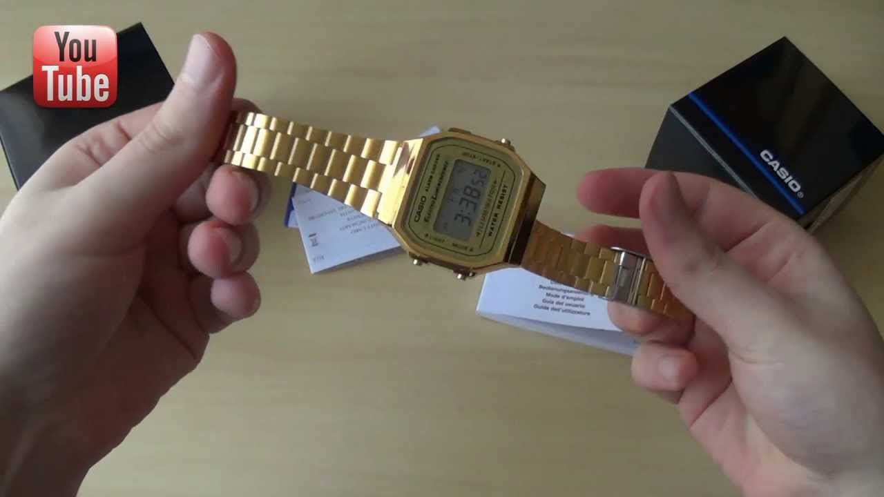 montre casio vintage a168wg 9ef  zHRO6