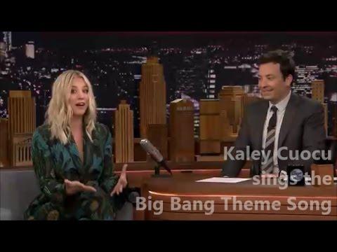 Kaley Cuoco sings the Big Bang Theory Theme song | HD