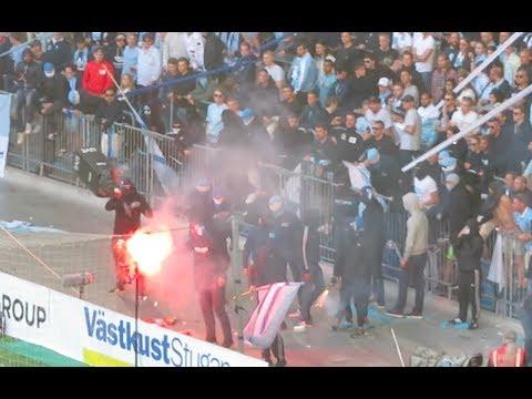 DIF vs Malmö FF - MFF Ultras försöker storma planen