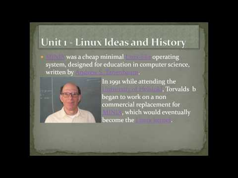 RH033 Red Hat Linux Essentials Unit 1 - Linux Ideas and History-04 [HD] [1080p]