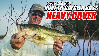 How to Catch BIG Bass in HEAVY COVER - Scott Martin