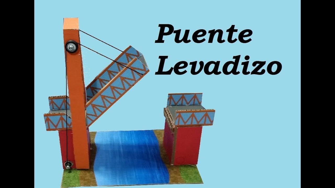 Construcción de una Maqueta de Puente Levadizo de Cartón