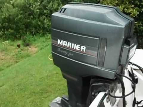 Outboard Engine Mariner 75 Test Run Youtube