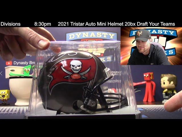 2021 Tristar Auto Mini Helmet 20 Box Double Case Break #2   Sports Cards