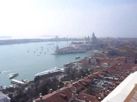 Venice (Venezia) - Rialto Bridge and Saint Mark's Bell tower