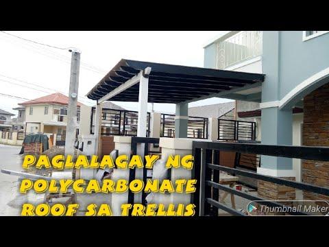 Paglagay Ng Polycarbonate Roof Sa Trellis Youtube