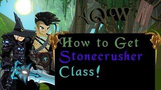aqw how to get the stonecrusher class brightoak class