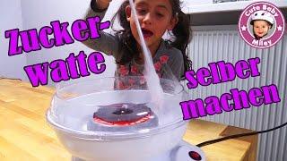 ZUCKERWATTE selber machen | ZUCKERWATTEMASCHINE  KINDERPARTY | Cotton Candy Flower | CuteBabyMiley