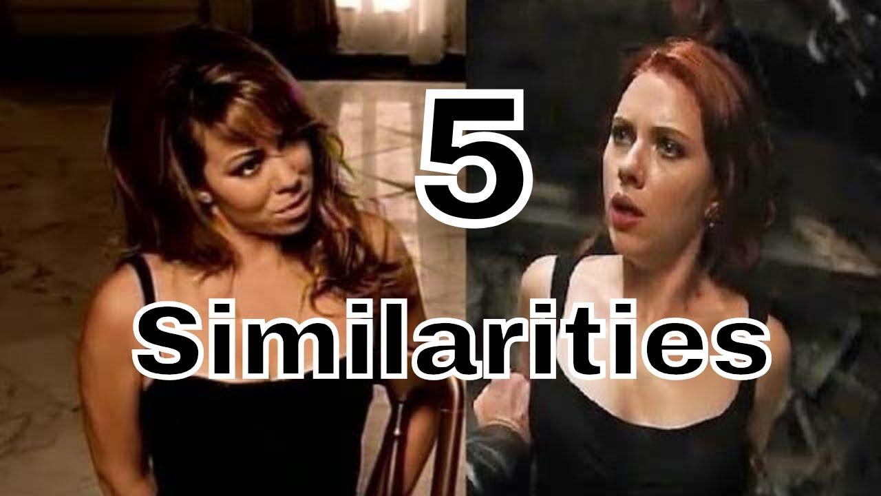 5 Similarities Between Black Widow (Avengers) and Mariah Carey (Honey) - Interrogation Scene