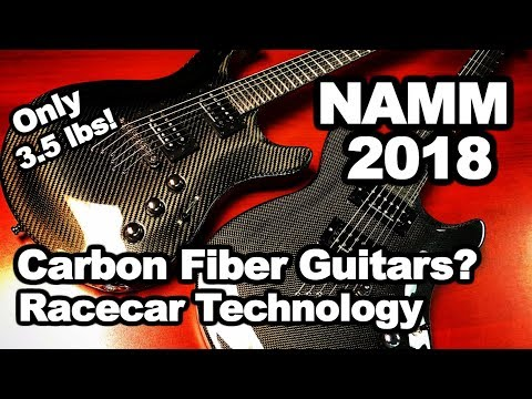 NAMM 2018 Carbon Fiber Guitar - Sankuer Composite Technologies guitar weighs only 2.5 lbs info demo