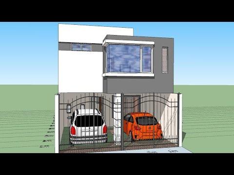 Casa 5x10 mts house 5 x 10 mts casas en 2018 t for Casa moderna 7x20
