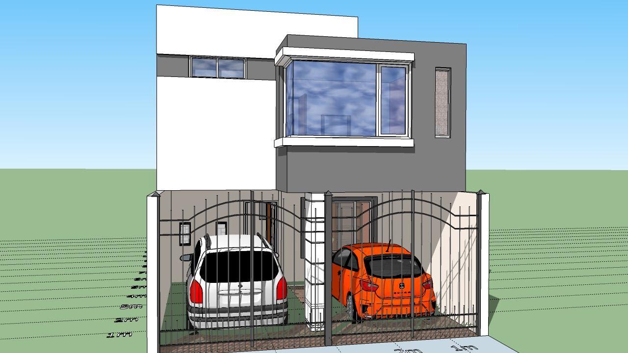 Casa de 6x15 mts de terreno youtube for Casa moderna de 7 x 15