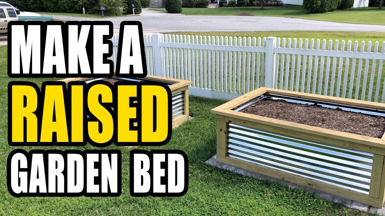 Building a Raised Garden Bed with Corrugated Steel