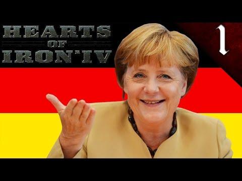 ANGELA MERKEL GERMAN REICH! HEARTS OF IRON 4: MODERN DAY: GERMANY ANGELA MERKEL EP. 1