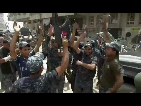 Celebrations in Mosul as city is liberated from Daesh