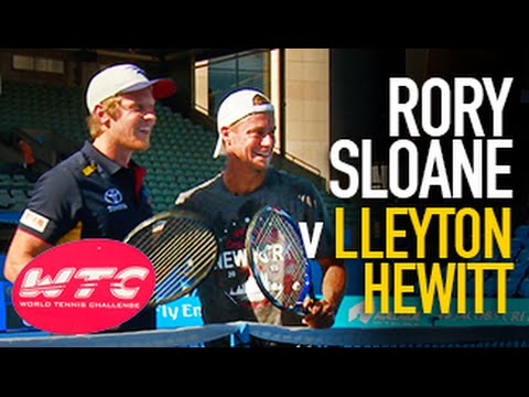 Sloaney has a hit with Lleyton Hewitt