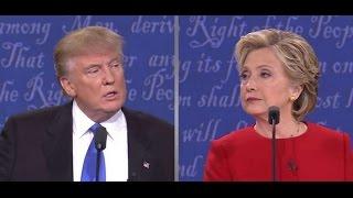 Trump und Clinton zweites TV-Duell - Die 2. TV-Debatte Komplett Deutsch 10.10.2016