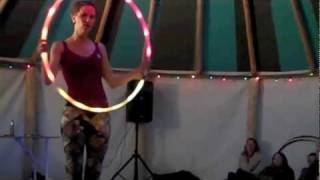 SaFire Gets Down with Glow - UK Hoop Gathering 2010
