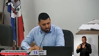 Sessão Extraordinária 15jul2019 e audiências públicas | Câmara Municipal de Itápolis - SP