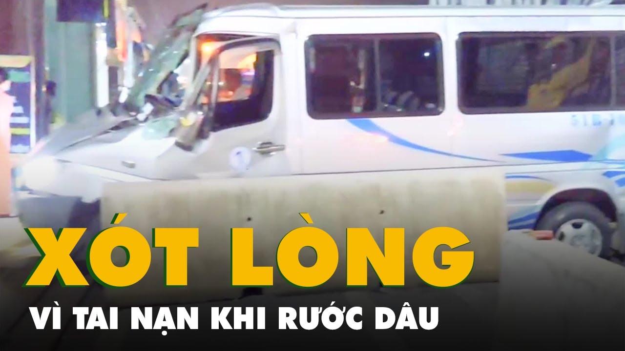 Xe ôtô chở 16 người đi đám cưới gặp nạn trên quốc lộ 1