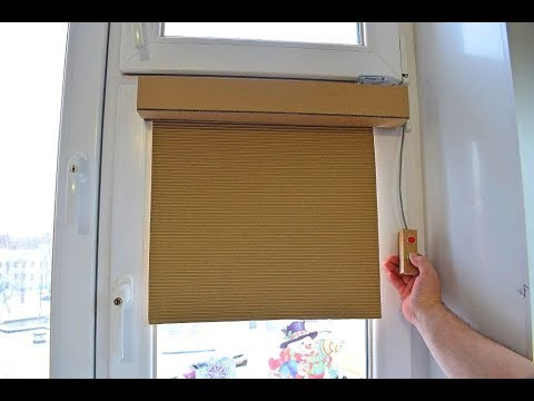 How to make a Roller blind from cardboard Do it yourself