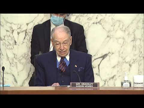 Grassley Opening Remarks at Hearing on Nomination of Judge Merrick Garland to be Attorney General