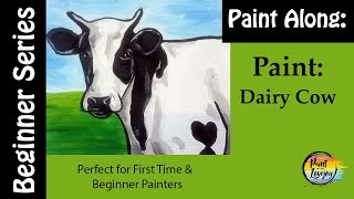 How to Paint a Dairy Cow🐄🎨: Easy Step by step for beginner Painters (great for kids too)