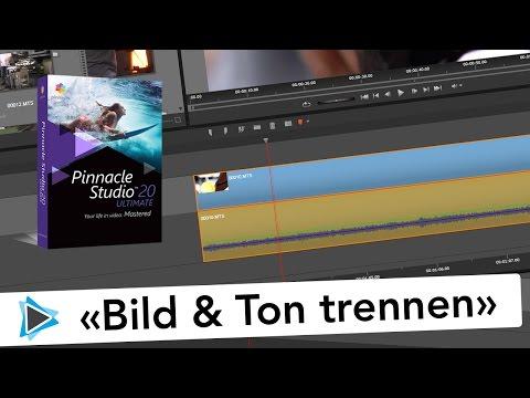 Pinnacle Studio 20 Bild und Ton bzw  Video und Audio trennen oder splitten Video Tutorial