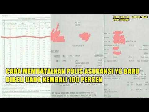 Cara Menutup Polis Asuransi, Uang Kembali 100 % ❗