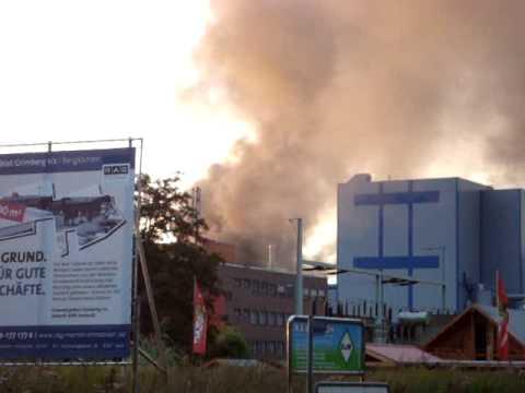 Explosion bei Bayer-Schering in Bergkamen 05.09.09 Brand