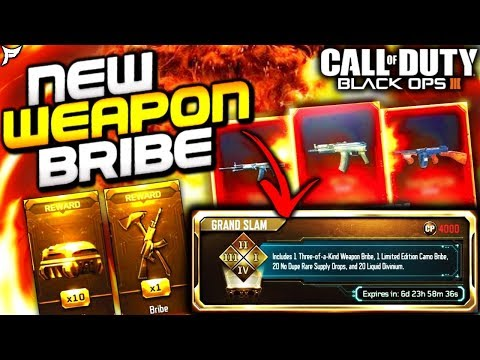 NEW GRAND SLAM BUNDLE IN BO3! - New Weapon Bribe Pack Opening! - Black Ops 3 (Ps4)