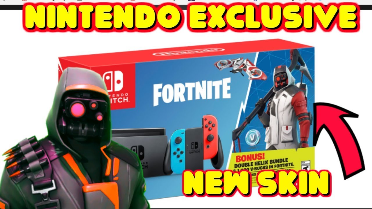 new exclusive nintendo switch bundle red and white archetype skin in fortnite - skin exclusif fortnite switch