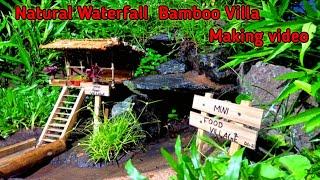 Build The Most Beautiful Bamboo Villa With Wild Waterfall in Malayalam മന ലകകഷൻ മകകങ വഡയ
