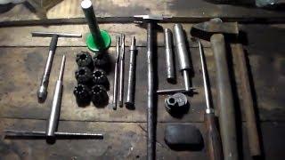 Набор инструментов необходимый  для ремонта головки цилиндров ваз 2101-2107