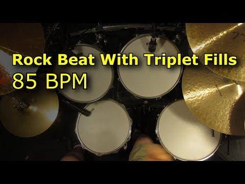 Rock Drum Beat With Triplet Fills 85 BPM