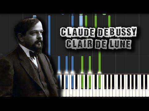 Claude Debussy - Clair de Lune - [Piano Tutorial Synthesia] (Download MIDI)