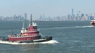 Taking that free Staten Island Ferry for views of NY Harbor Summer 2018