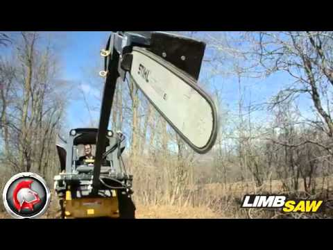 Spartan Equipment Skid Steer Limb Saw Attachment Youtube