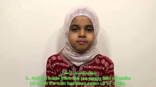 QuranwithMaryam Maryam is reciting Surah Al Fil