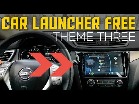 CAR LAUNCHER FREE (Theme Three) for ANDROID HEAD UNIT