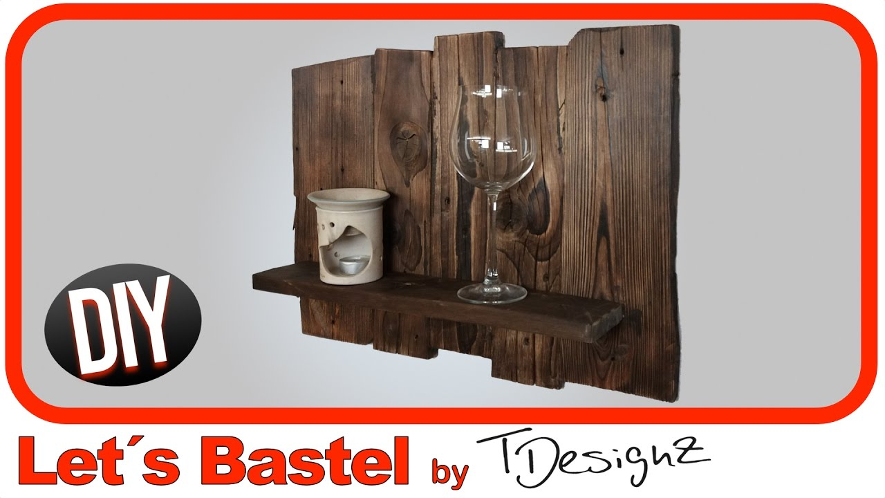 kleines regal aus europaletten holz upcycling lets bastel youtube. Black Bedroom Furniture Sets. Home Design Ideas