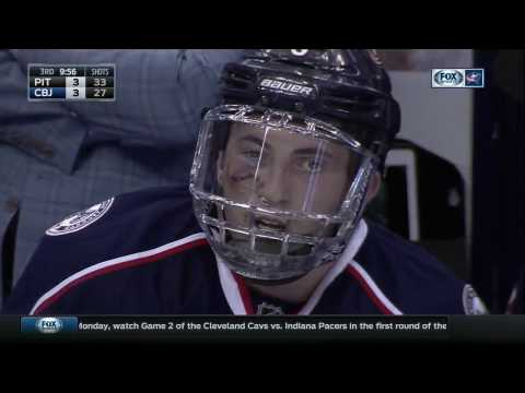 Blue Jackets' Zach Werenski returns to playoff game with black eye, face shield